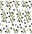 seamless pattern olive branches isolated vector image
