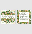 set beautiful cards banner wedding vector image vector image