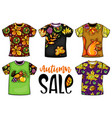 set of colorful templates t-shirts vector image