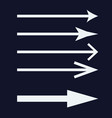 set of white arrows icon vector image