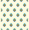 small colorful aztec elements pattern vector image vector image