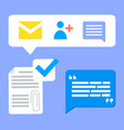 social network icons income message email vector image