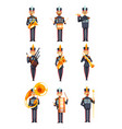 soldiers playing musical instruments set members vector image