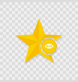 star icon eye icon vector image
