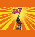 start of sale starter pistol vector image vector image