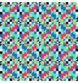 symmetrical colorfull pattern geometric shapes vector image vector image