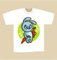 t-shirt print design bunny vector image vector image