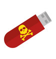 usb memory with skull vector image vector image
