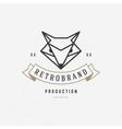 Vintage Fox face Line art logotype emblem symbol vector image vector image