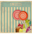 vintage postcard vector image vector image