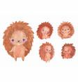 watercolor hedgehogs set children animal clipart