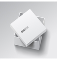 White square open box vector image