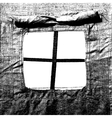 Window military tent as a frame vector image