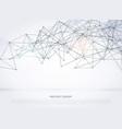 wireframe poligonal abstract mesh background vector image vector image
