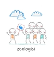 zoologist says people about turtles vector image vector image