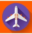Airplane delivery icon Flat design style vector image