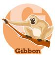 Abc cartoon gibbon vector image