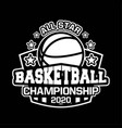 all star basketball championship 2020 vector image