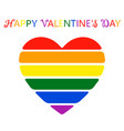 beautiful colorful heart in flowers of lgbt flag vector image vector image