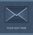 blue jeans envelope vector image vector image