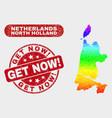 bright mosaic north holland map and distress get vector image vector image