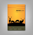 Brochures book or flyer with deer and lane in vector image vector image