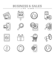 Business and sales line icons set vector image vector image