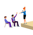 business people groups presentation to vector image