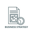 business strategy line icon business vector image vector image