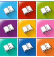 Buttons with notebooks vector image vector image
