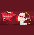 card to the day of the holy valentine vector image