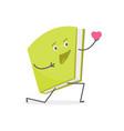 cartoon color loving book emoji character person vector image vector image