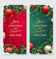 christmas design for poster or greeting card vector image vector image