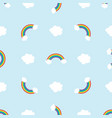 cloud rainbow seamless pattern background eps10 vector image vector image