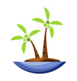 coconut tree icon cartoon vector image