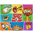 comic bright composition vector image