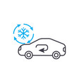 cooling car system thin line stroke icon vector image vector image