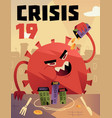 coronavirus impact on global economy and stock vector image