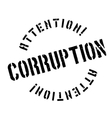 Corruption rubber stamp vector image vector image