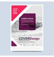 Cover design for annual report or brochure vector image vector image