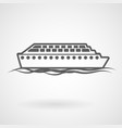 cruise ship icon on white background vector image