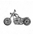 custom bike vector image vector image