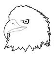 drawn eagle head vector image