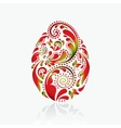 easter egg from leaf pattern vector image