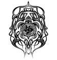 ethnic style turtle tattoo vector image