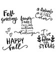 fall autumn greeting card vector image vector image