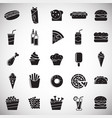 fasfood icons set on white background for graphic vector image
