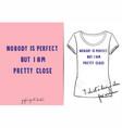fashion print for t shirt or pajamas vector image vector image