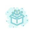 gift box icon in comic style magic case cartoon vector image vector image