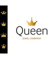 golden sign crown queen design modern logos king vector image